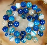 Free ship!!! 10strands DIY 8mm/10mm natural Blue Lace Agate bead strand  stone loose strands