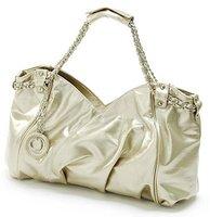 Design of Lady's HandBag/Fashion fastener handbag/Lady's Single shoulder bag/Drape peach heart metal chain shoulder bag lady sin