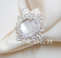 Express Shipping! High Quality!  Clear Napkin Ring Wedding Bridal Shower Favor