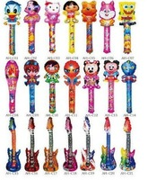 freeshipping balloon stick,cheering stick,inflatable balloon stick,inflatable bang stick, 100pcs/design 22*65cm mix designs