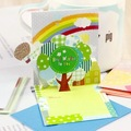 7.3x8.3cm, New handmade 3D  greeting card with envelope, Birthday card, Gift card,  stationery (SS-479)