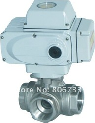2 INCH stainless steel Electric 3 way ball valve ,AC110-380V; DC24V; control pressure:0-25bar, working pressure:0-40bar,(China (Mainland))