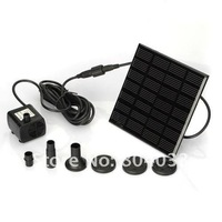 1pcs/set Solar Power Pool Water Pump Kit Garden Pond Fountain Panel, Black ,Free Drop Shipping