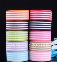 "5/8""16mm Mixed stripes GROSGRAIN RIBBON hairbow"