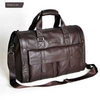 Free shipping.fashion leather luggage bag,berifcase.genuine cow leather bag.travel.47x30x20cm