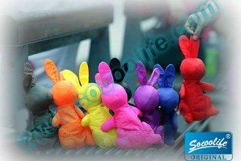 Free shipping wholesale new novelty 190T portable folding rabbit shopping bag  100pcs Picnica Bunny bag