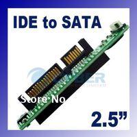 "2.5"" 44pin Drive Female IDE to SATA 7+15P Male Converter Adapter JMB20330 Chipset 1663"