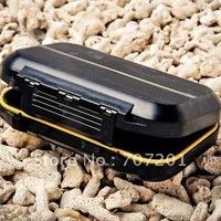 "10pcs Waterproof Fly Box Fishing Box Black 5.3""x3.5""x1.4"" >>B"