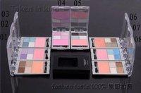 Free Shipping Brand new Eye Shadow 4 color eye shadow palette+1 color blush (20 pcs/lot)