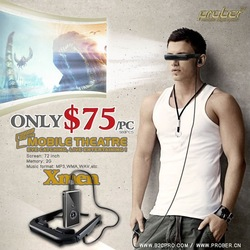 "Digital Video Spectacles/video glasses/vide eyewear for movie display with 72"" AV-IN(China (Mainland))"