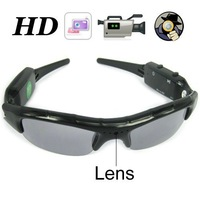 720P Sunglasses Camera, mini DVR Camera galss hidden camera audio / video recorder 8GB 16GB Free Ship