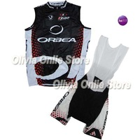 2011 Orbea black/red Sleeveless Cycling Jersey And BIB Shorts,cycling wear S~XXXL