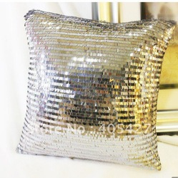 #228 New arrival gray sequin design pillow/cushion /pillow case cover freeshipping--min order 2pcs(China (Mainland))