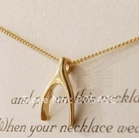 HOT SELL! Gold plated chain Y shape choker necklaces wishbone necklace costume jewelry wholesale