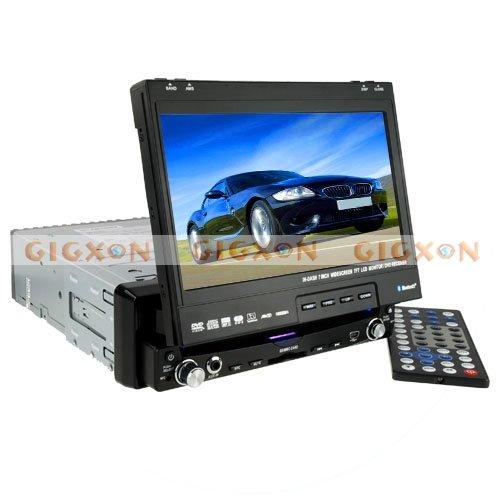 Large 7 Inch Touchscreen Bluetooth GPS Car DVD Player (1-DIN)(Hong Kong)