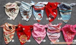 Big discount !!! The triangle that baby baby head scarf children children saliva that tied scarf free shipping+guaranteed100%(China (Mainland))