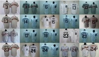 Free shipping Detroit Tigers team jersey white jersey,Detroit Tigers jerseys,baseball jerseys mix order