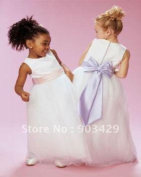 Custom-Made 2011 fashion A-line Ankle-length kids flower girl dress dresses skirt skirts EMS free shipping