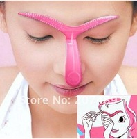 Perfect Professional Draw Eyebrow pencil Stencil Shaping DIY Make up beauty Tool shaper kit wholesale
