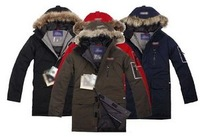 Wholesale-goose Expedition Parka Men's Windbreakers jackets :black colour