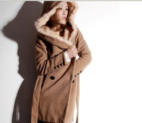 Wholesale - Korea style Hot selling free shipping Women's cotton winter /Autumn noble long coats