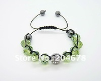 Free shipping new hot Shambala Crystal Pave Ball Bead Bracelets NEW ARRIVE NICE LINK  S39