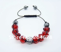 Free shipping new hot Shambala Crystal Pave Ball Bead Bracelets NEW ARRIVE NICE LINK  S40