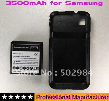 10pcs 3500 mAh Extended Battery for Samsung Galaxy S I9000 EPIC 4G Cover door Case mobile phone mix evo 3d 9700 bold 9800 torch