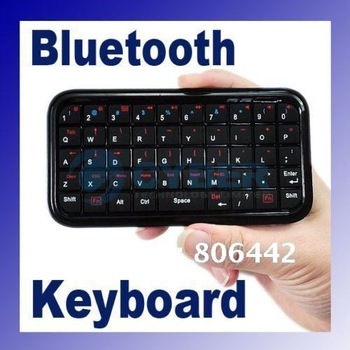 Promotions!! Ultra Slim Mini Wireless Bluetooth Keyboard For iPad/iPhone 4.0 OS PS3 PDA Black 049