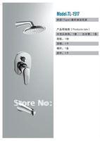 Bathroom Luxury In-Wall Chrome Rainfall Shower Set Brass Shower Mixer Shower Faucet TL-1517