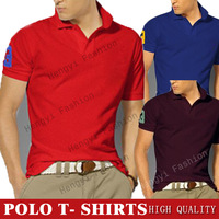 Мужская футболка men's polo shirt 100% COTTON FLAG POLO SHIRTS MILAN PAIRS flag polo tee shirts hot cheap polo horse men S, M, L, XL, XXL