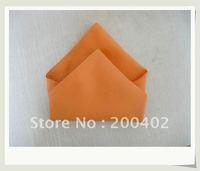 polyester plain napkin organge color  for wedding/napkins