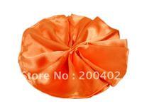 plain satin napkin orange color  for wedding/napkins