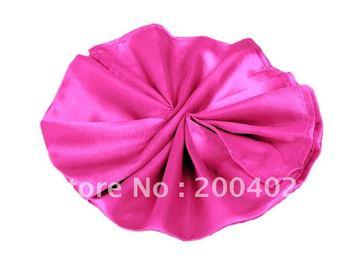 plain satin napkin hot pink  color  for wedding/napkins