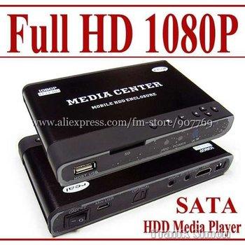 "Wholesale 2pcs/lot 2.5"" Full HD 1080P HDD Media Player - MKV H.264 DIVX DTS -SD USB &Free Shipping"