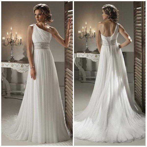 Свадебные прически для платья с одним плечом