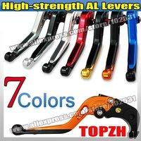 Free Shipping AL Single  1pcs adjustable Brake Lever for SUZUKI GSXR600 06-10 S069