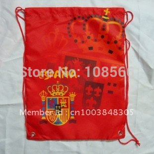 wholesale Spain football back pack bag /shoe bag  fashion sport backpacks