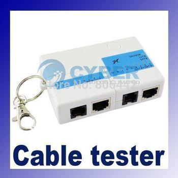 9 LED RJ45 RJ-45 RJ11 Mini Cat5 Network LAN Cable Tester Tool with Key Ring 220