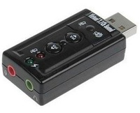 7.1 channel USB sound card / external 7.1 audio / independent sound / support WIN7, High quality, 5pcs/lot