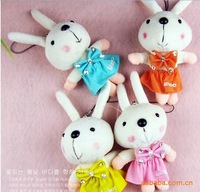 Free shipping cute rabbit doll pendant mobile phone chain.Rabbit Baby cell phone charms