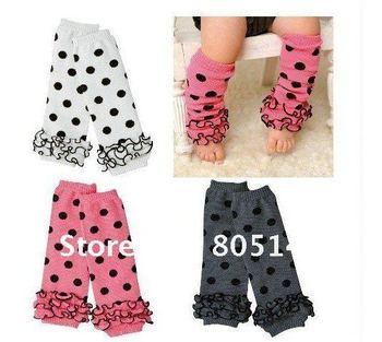 baby socks lace leg warmers knee pad children legging Kids toddler High socks stocking