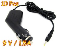 """Wholesale 10pcs/lot New 2.5mm / 3.5mm 9v / 1.5A Car Charger Adapter for 7"""" 10"""" android Tablet PC MID ePad Flytouch"""