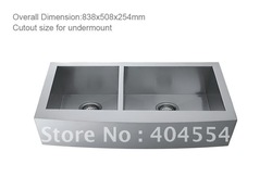84CM Stainless Steel Sink Double Bowls Kitchen 5803(China (Mainland))