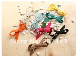Wholesale free shipping retail princess HAIR CLIP colorful hairpin pure color bows clips colorful butterfly tie Hair Accessories(China (Mainland))