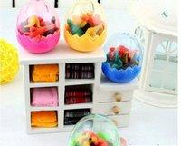 Wholesale Fashion simulation dinosaur egg eraser set,children gift,sweet stationery