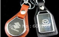 freeshipping! 2011 wholesale/leather/car KEY/keychain/smarfs/motorcgcle/car accessories/skoda
