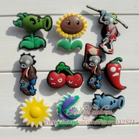 Free Shipping 20pcs LotPLANTS VS ZOMBIES  charms/shoe accessories  for clogs hyb064-2