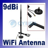 2.4GHz 9dBi WIFI wireless Antenna Omni Indoor directional with extended cable RP-SMA Plug Magnet Base