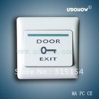 Plastic door exit button